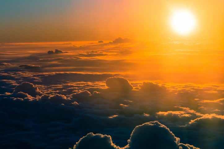 backlit bright clouds cloudscape